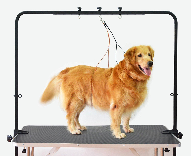 Gravitis Regolabile Overhead Pet Grooming braccio con morsetti e imbracatura – Tavolo per cani Pet Line