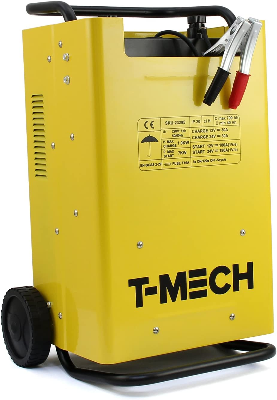 T-Mech MonsterShop Cargador de batería multifunción monofásico, 12V / 24V Cargadores de baterías para vehículos