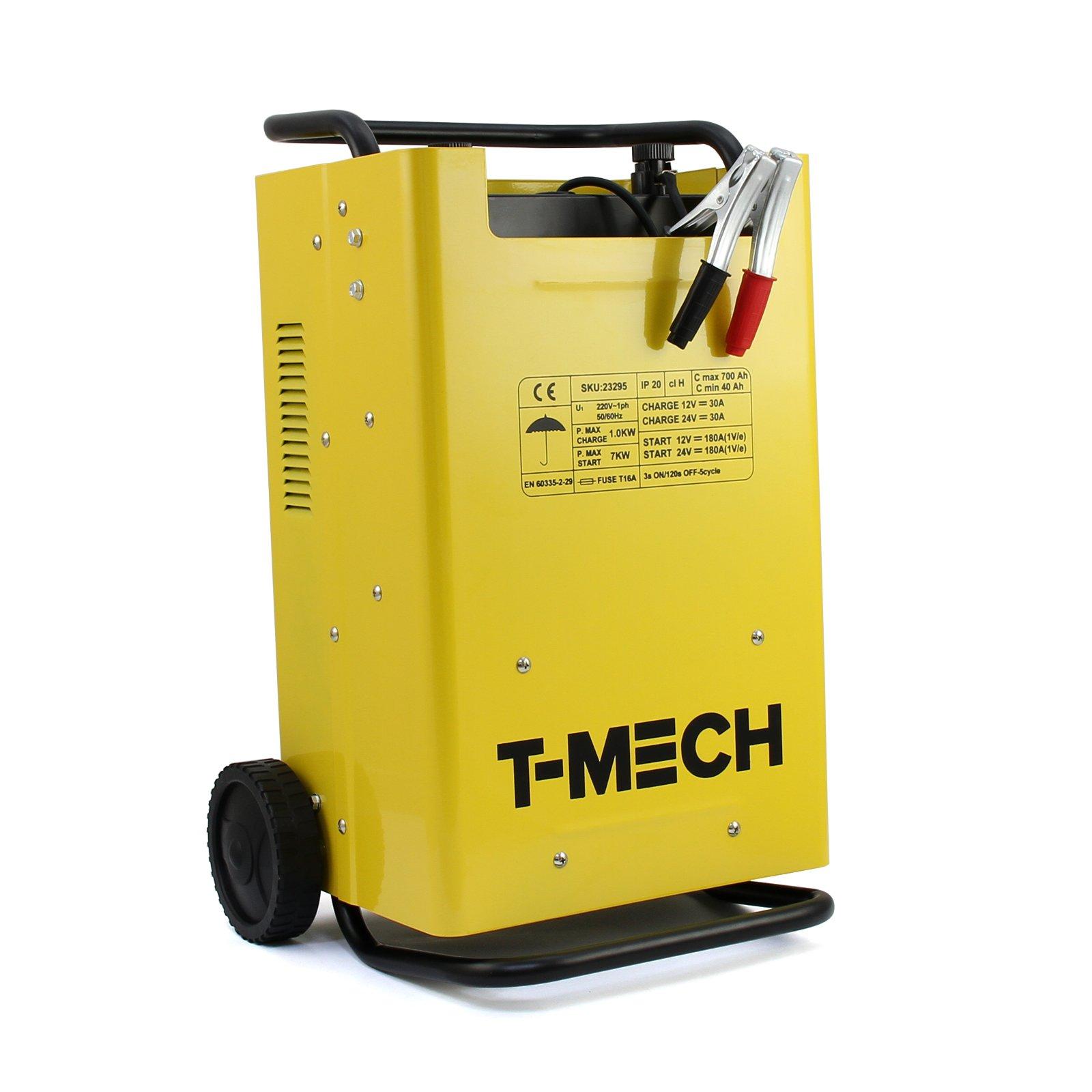 T-Mech Car Jump Starter & Battery Charger Power Pack Portable Batteries Start Power Booster for Vehicles Vans Motorbikes 12/24 Volts