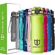 Degbit Leak Proof Motivational Water Bottle, 1L/500/350ml BPA Free Sports Water Bottles with Times to Drink, Filter & Lock Lid, Tritan Plastic Drinks Bottle for Running, Gym