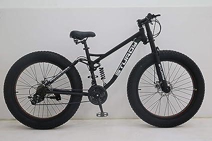 65b871dbcf2 Buy STURDY BIKES Dual Suspension Downhill Fat Mountain Bike (Black ...