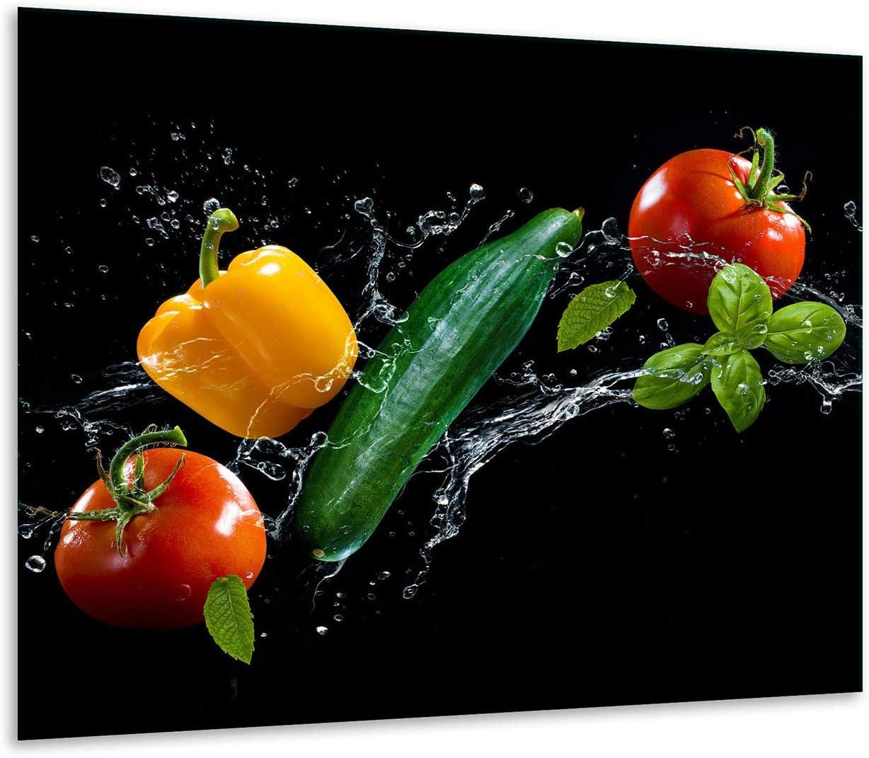 Pour plaque /électrique /à induction decorwelt Plaque de protection pour plaque de cuisson 60 x 52 cm Universel Marron Protection anti-/éclaboussures C/œur En 1 pi/èce
