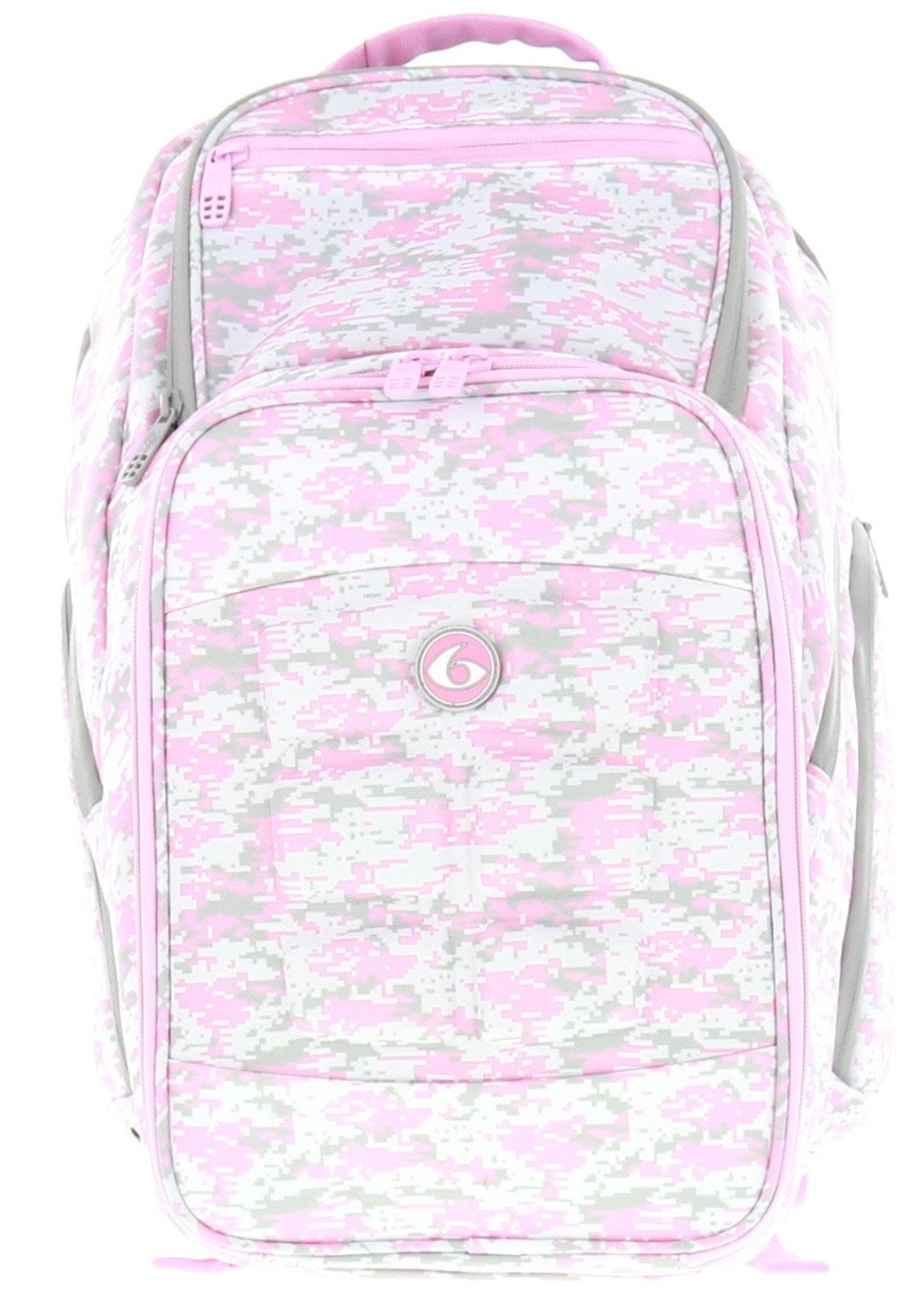 6 Pack Fitness Expedition Backpack W/ Removable Meal Management System 500 Pink & Grey Digital Camo w/ Bonus ZogoSportz Cyclone Shaker by 6 Pack Fitness (Image #8)