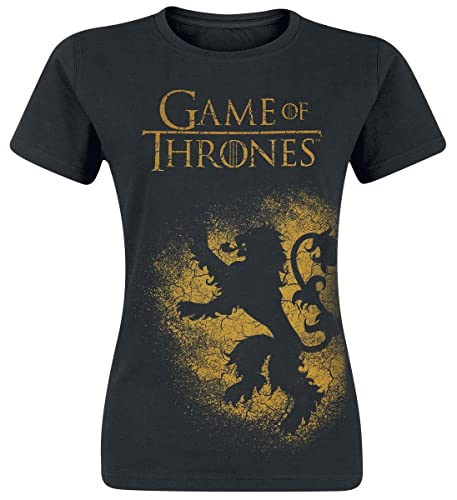 Game Of Thrones Juego de Tronos House Lannister Camiseta Mujer Negro