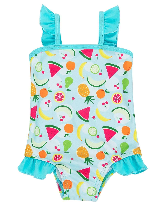 Sociala Baby Girl's Tropic One Piece Swimsuit Swimwear Bathing Suit Rash Guard