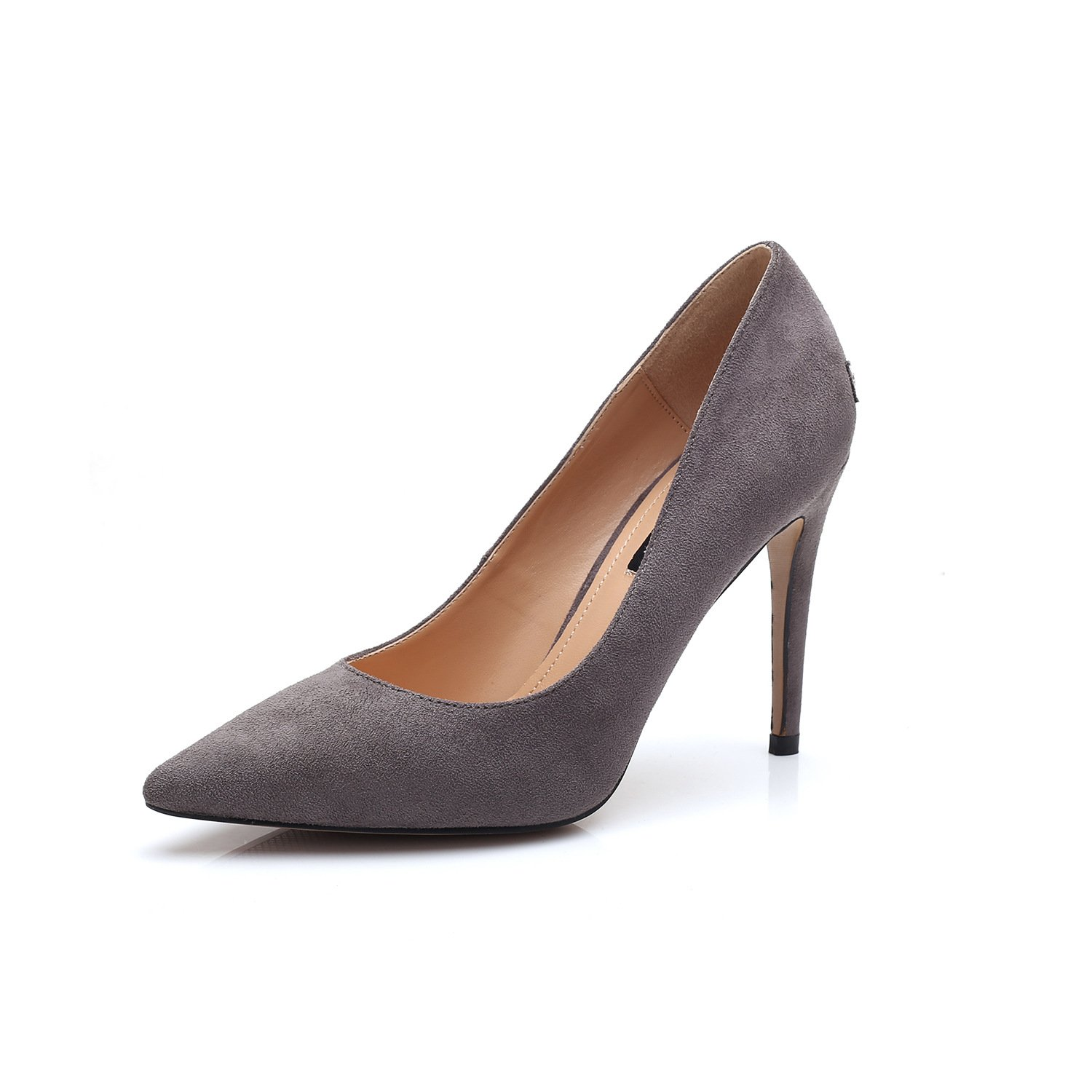 Tip single shoes high-heeled shoes fine satin shoes with a sweet sexy black, gray, 34