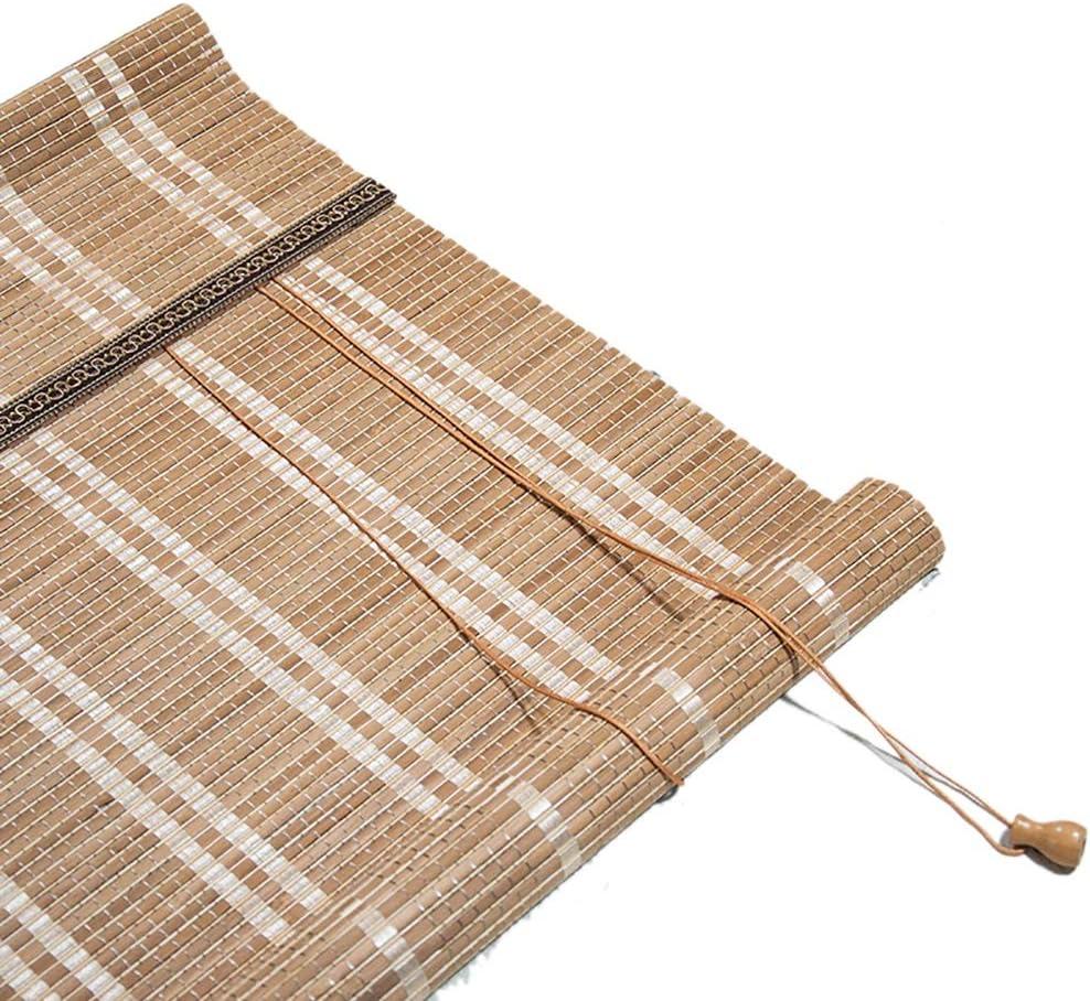 Persianas enrollables Bambú con Cable, Fácil Instalación, Filtrado de Luz, Puertas Corredizas de Vidrio Sombrilla para Salón de Té, Tamaño Personalizado