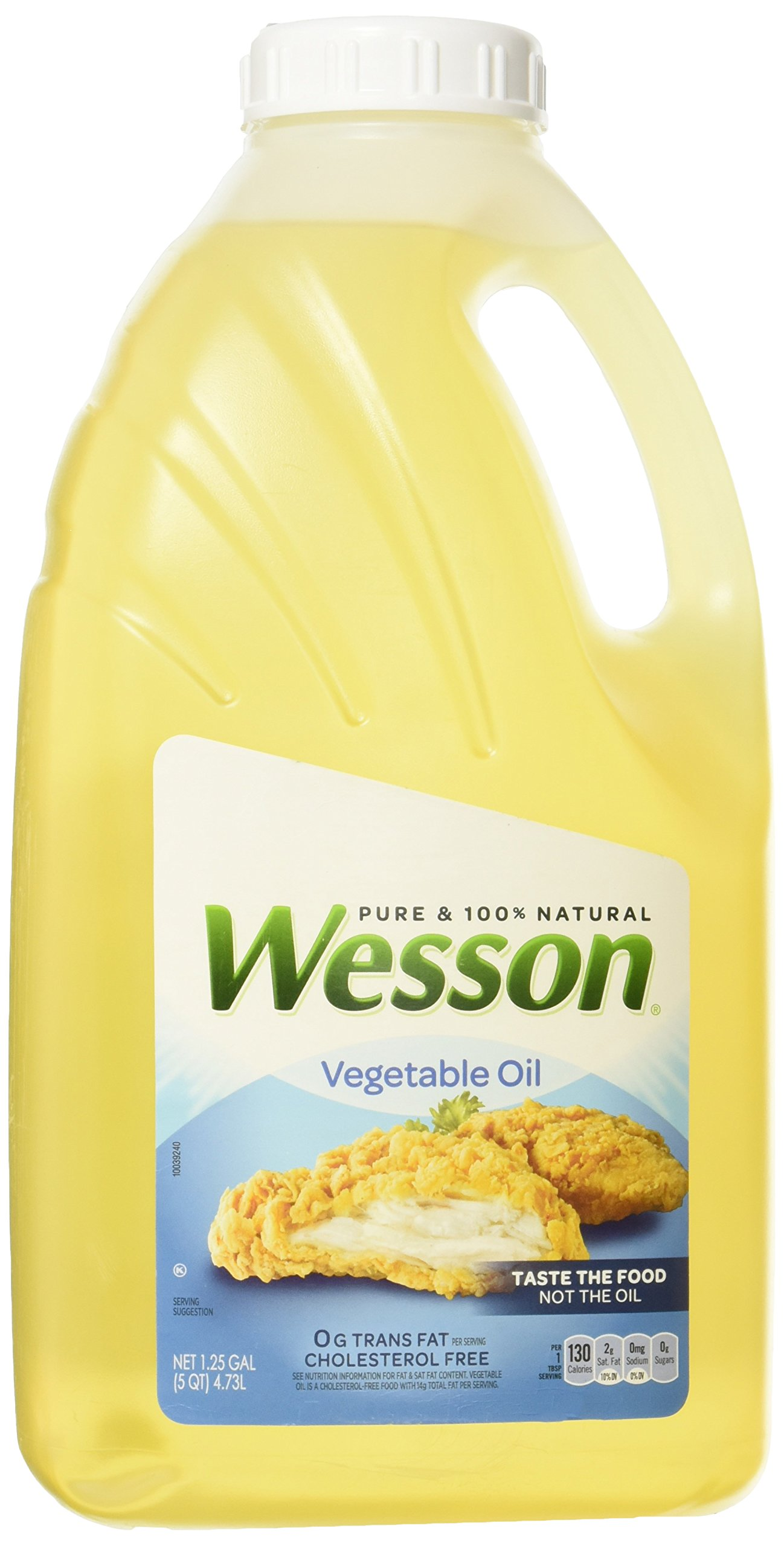 Wesson Natural Vegetable Oil, 1.25 Gallon