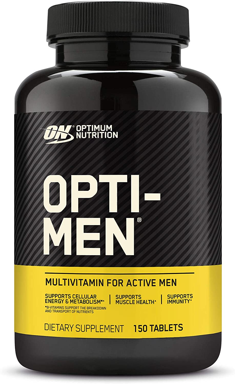 Optimum Nutrition Opti-Men, Vitamin C, Zinc and Vitamin D, E, B12 for Immune Support Mens Daily Multivitamin Supplement, 150 Count