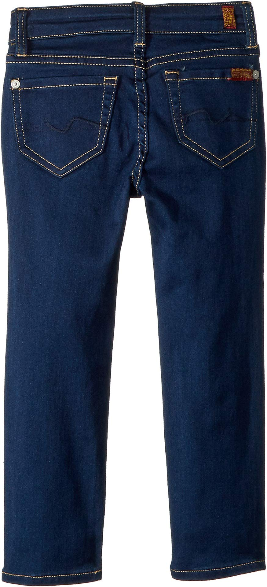 7 For All Mankind Kids Girl's Skinny Jeans in Rinsed Indigo (Little Kids) Rinsed Indigo 4 US Little Kid by 7 For All Mankind (Image #2)