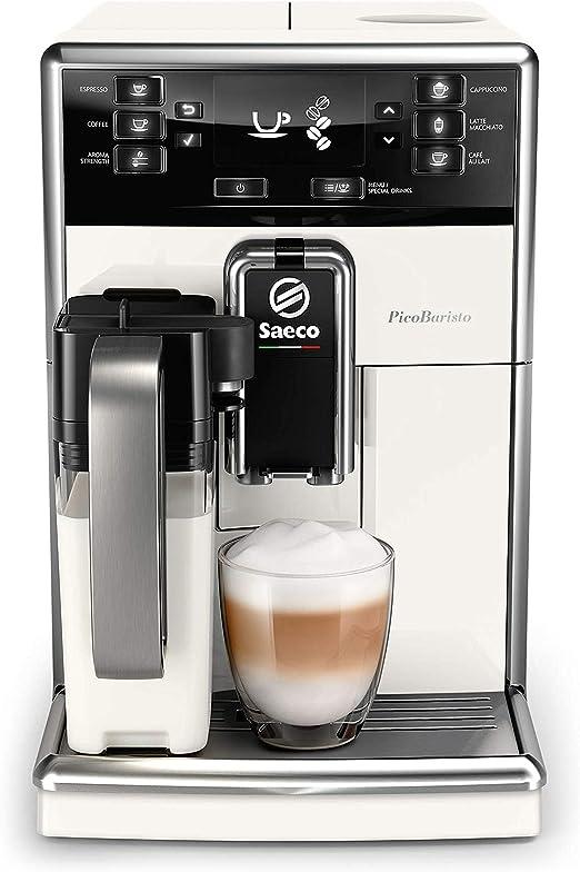 Saeco SM5478/10 - Cafetera (Independiente, Máquina espresso, 1,8 L, Granos de café, De café molido, Molinillo integrado, Blanco): Amazon.es: Hogar