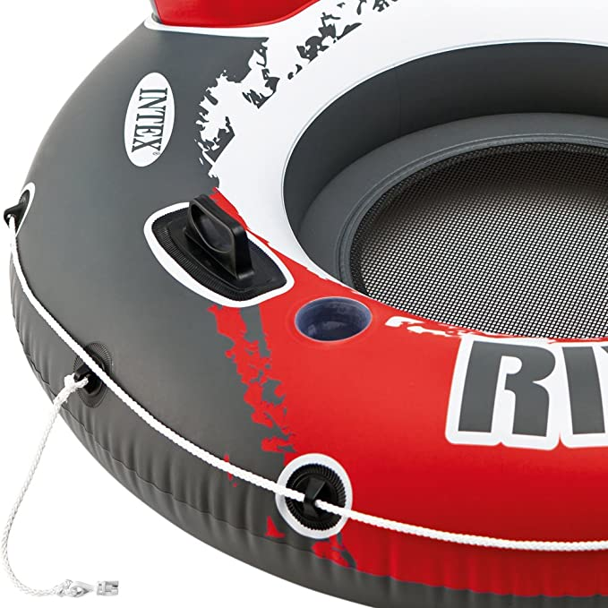 Intex 56825EU - Rueda hinchable River Run 135 cm diámetro roja ...