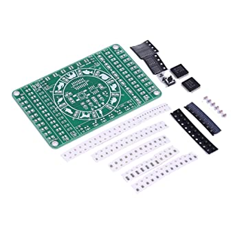 Icstation DIY Electronics SMD SMT Components Soldering Practice Board Kits  with Spinning Prize Wheel Function