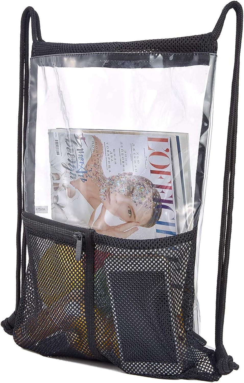 Clear Bag Backpack See through Sling Stadium approved Pvc Vinyl Transparent Shoulder Crossbody for Women /& Men
