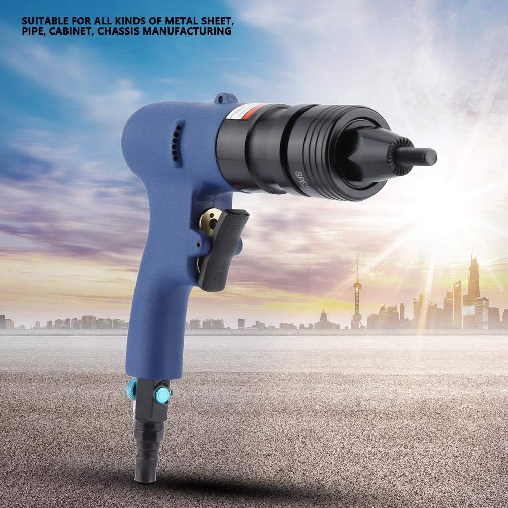 Remachadora neum/ática tuerca de remache de aire Pistola de extracci/ón Pistola de clavos Herramienta de remachado de aire M10-M12 Remachadora neum/ática