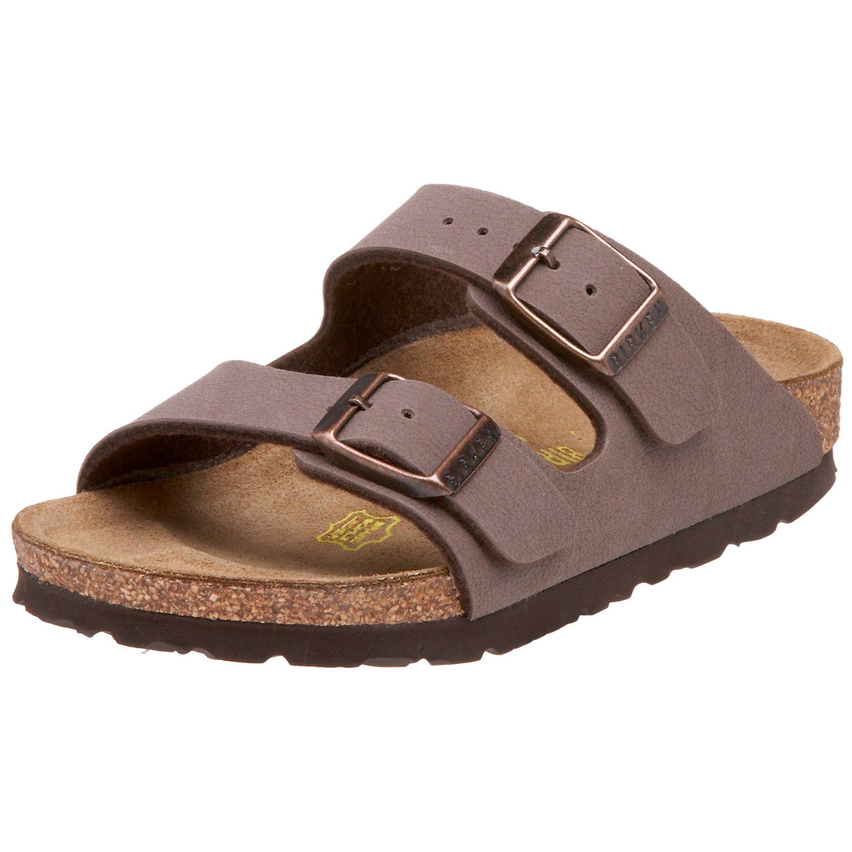 Birkenstock Arizona Birkibuc Sandal (Toddler),Mocha,26 Narrow EU