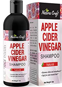 Raw Apple Cider Vinegar Shampoo – Clarifying Hair Growth Shampoo for Oily Hair – Sulfate Free Organic ACV Shampoo for Fine Hair – Natural Hair Care for Men and Women with Keratin and Jojoba Oil 8 oz