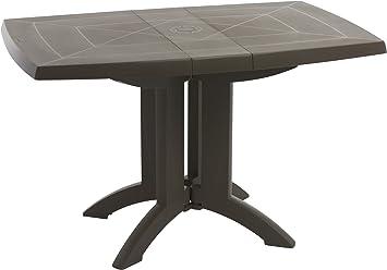 Mesa para jardín resina, diseño de mesa de jardín plegable Vega ...