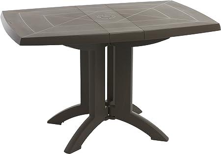 Mesa para jardín resina, diseño de mesa de jardín plegable Vega, 118 x 77 cm: Amazon.es: Bricolaje y herramientas