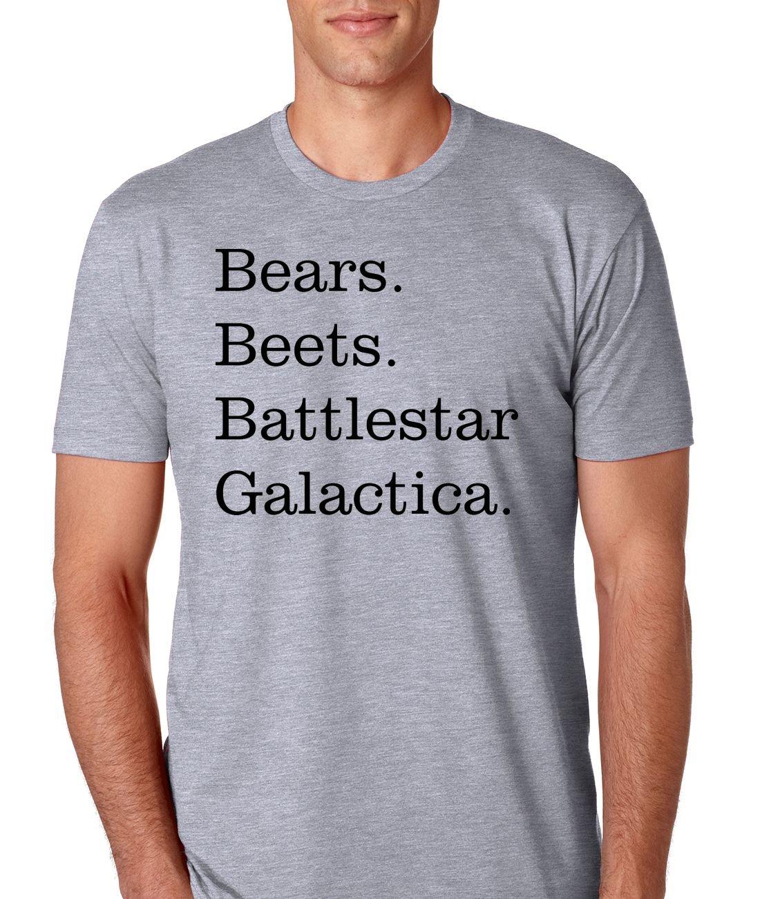 e11528b8d NorthStarTees The Office Bears Beets Battlestar Galactica Mens Athletic Fit  T-Shirt (Medium,