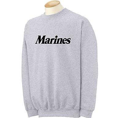 Amazon.com: Marines Crewneck Sweatshirt in Gray: Clothing