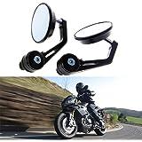 KaTur Rückspiegel für Motorrad, Universalspiegel für 22-mm-Griffe, Aluminiumlegierung, runde Form