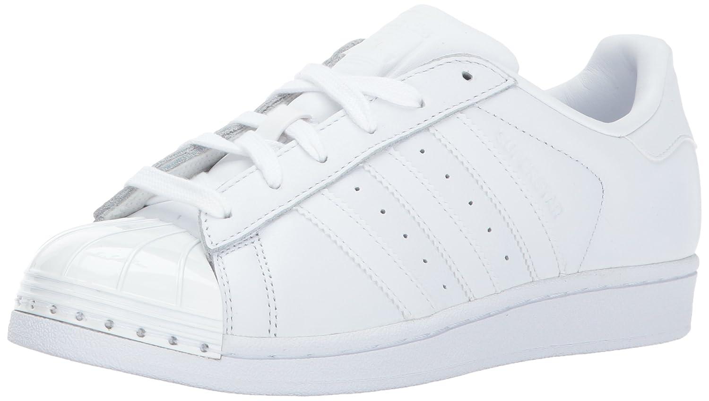 adidas Originals Women's Superstar Metal Toe W Skate Shoe B01N0QVELA 6 M US|White/White/Black