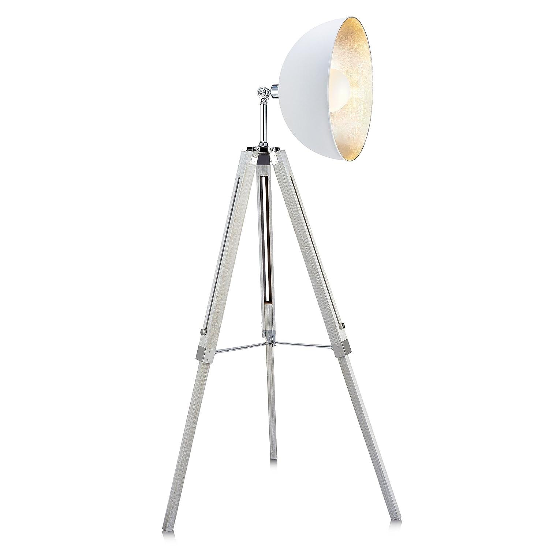 Versanora Stativ Led Standard Stehlampe Weisser Schirm Modern