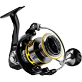 SAN LIKE Spinning Fishing Reels,Saltwater/Freshwater Fishing Reel,7+1 BB Light Weight,5.2:1 Gear Ratio 34 Lbs/40.5 Lbs Max Dr