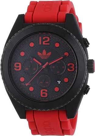 Adición distancia Mortal  adidas - Reloj de Cuarzo para Hombre, Correa de Silicona Color Rojo:  Amazon.es: Relojes