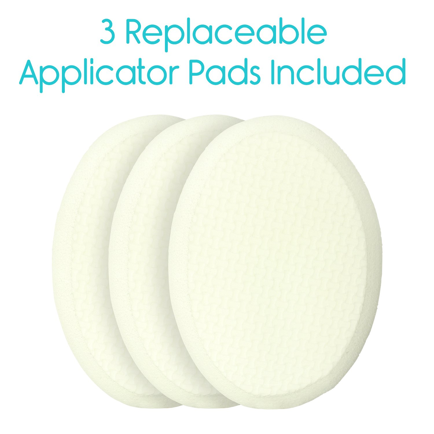 Back Lotion Applicator by Vive - Long Reach Handle With Pad for Easy Self Application of Shower Bath Body Wash Brush, Foot Sponge, Skin Cream, Suntan, Tanning, Aloe - Men, Women (3 Replacement Pads) by VIVE (Image #6)
