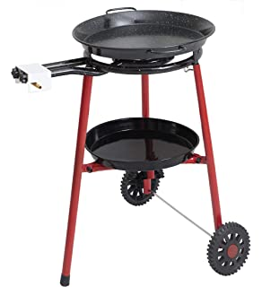 Mabel Home Paella Pan + Paella Burner and Stand Set on Wheels + Complete Paella Kit