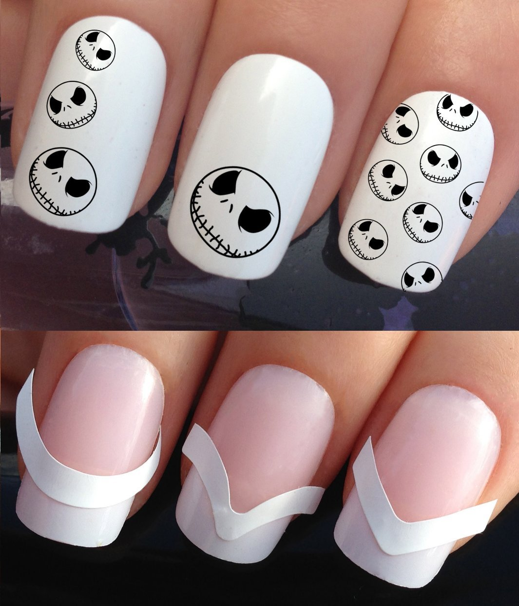 HALLOWEEN WATER NAIL TRANSFERS DECALS STICKERS ART SET #671 & 172 ...