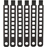 """Hollywood Racks Rubber Strap (Pack of 6), 8.5"""""""