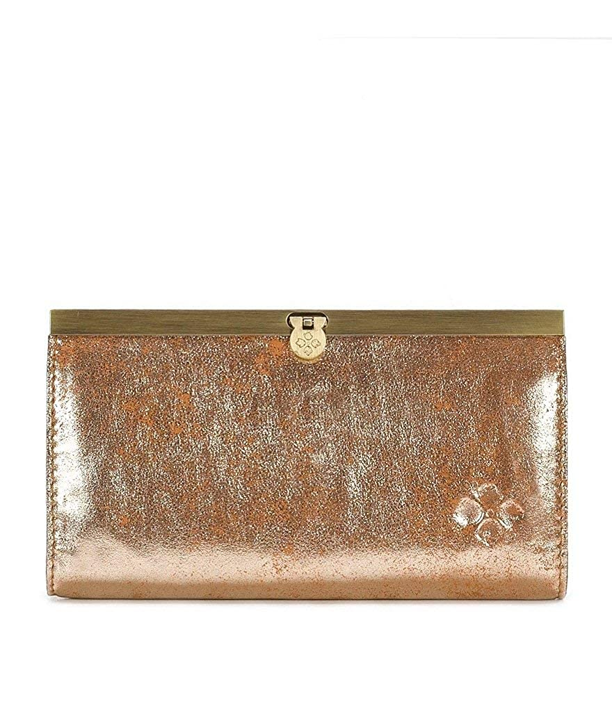 Patricia Nash Cauchy Champagne Foil Leather Clutch Wallet