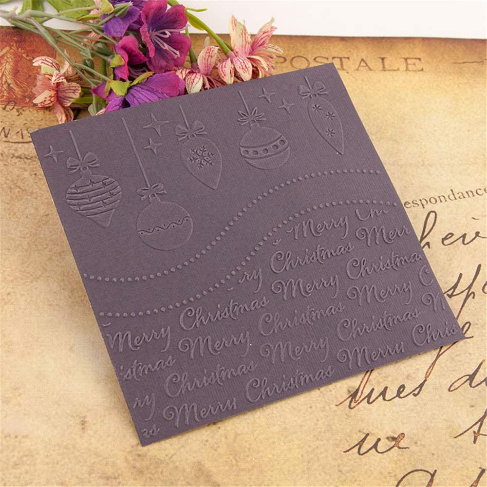 5.9 by 5.9 Inch Heart Flower Embossing Folders for Card Making and Scrapbooking Thanksgiving Valentines Day Embossing Folders EM166