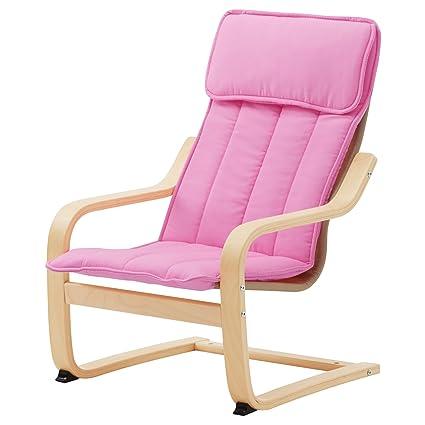Amazon Com Ikea Poang Children S Armchair Birch Veneer Almas Pink