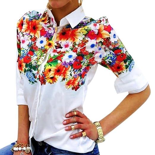 cc6aa372 Sunward(TM) Women Butterfly Chiffon Tops Long Sleeve Blouse (Small,  Multicolor)