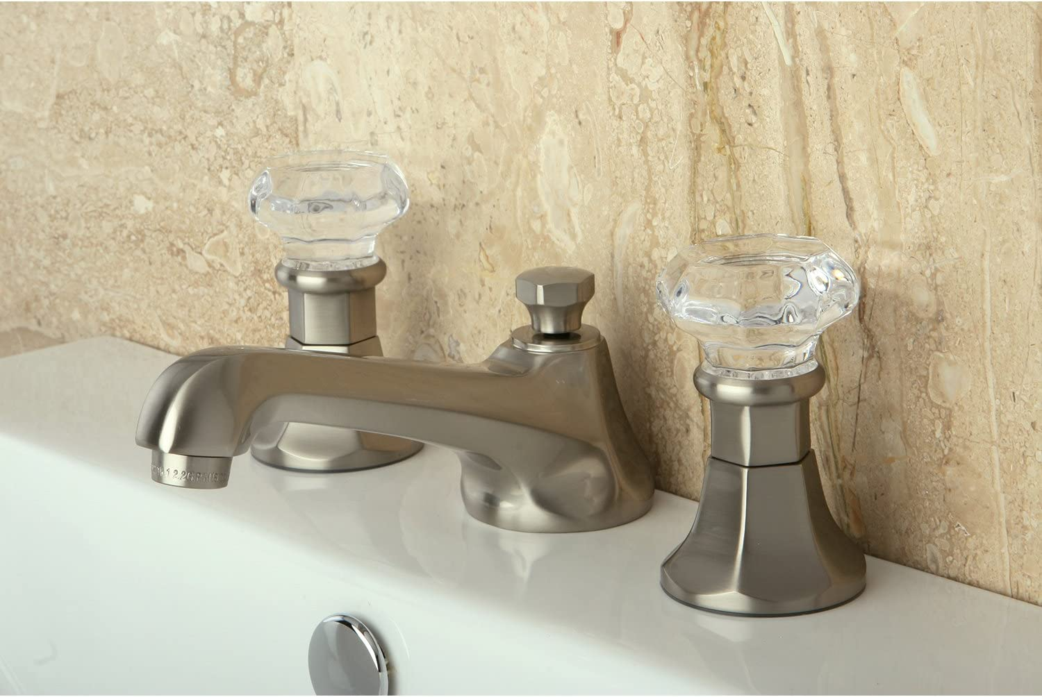 Kingston Brass KS4468WCL Celebrity 8-Inch Widespread Lavatory Faucet Brushed Nickel