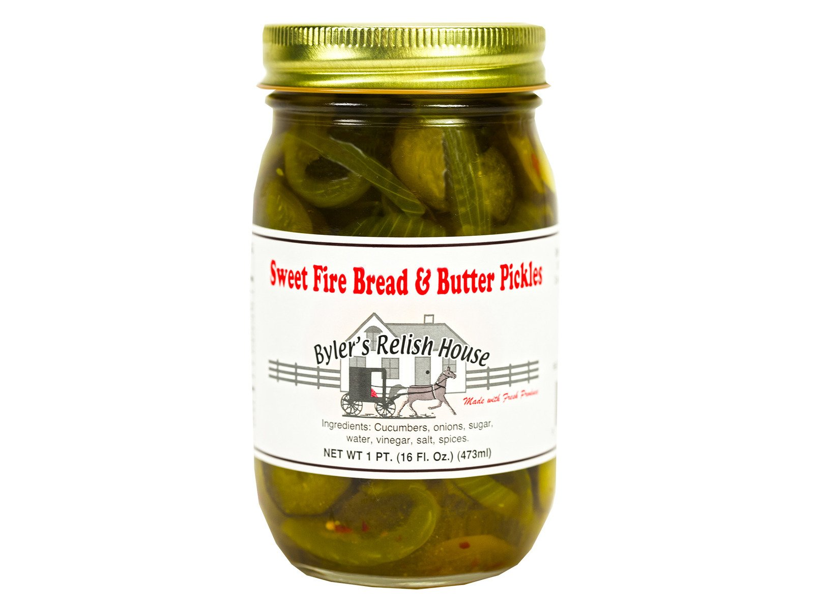 Byler's Sweet Fire Bread & Butter Pickles - (Two Pack) by Byler's Relish House