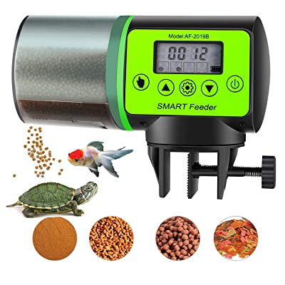 ShinePick Automatic Fish Feeder Moisture-Proof Fish Food Dispenser Battery-Operated Intelligent Timer Auto Feeder