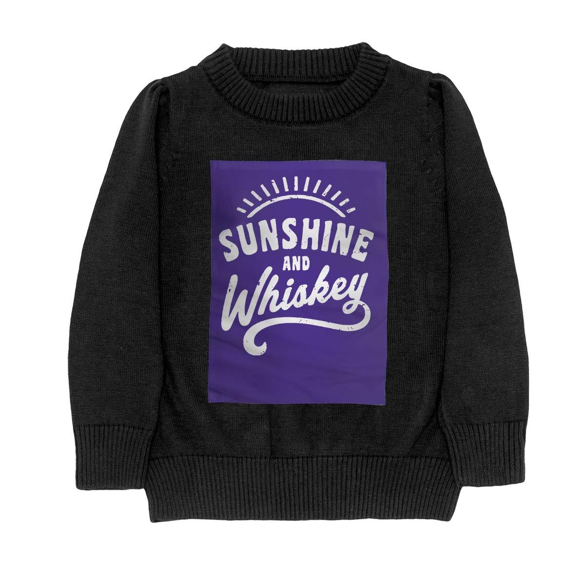 WWTBBJ-B Sunshine and Whiskey Retro Style Adolescent Boys Girls Unisex Sweater Keep Warm