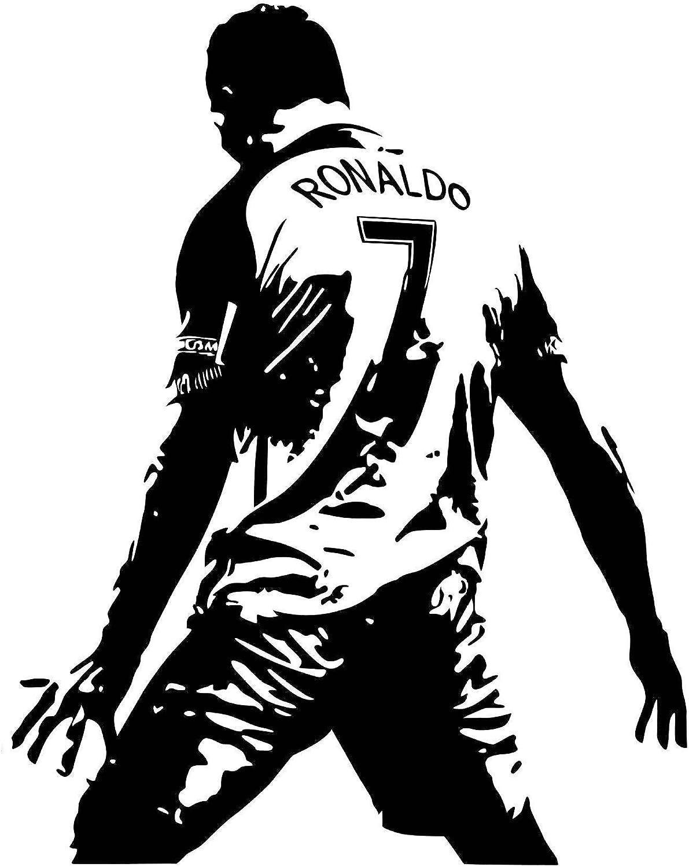 ASENER Cristiano Ronaldo Portugal Vs España CR7 Goal Celebration Logo Etiquetas De La Pared, Los Fanáticos del Fútbol Pegatinas De Decoración, Ronaldo Firmado Montado Póster De La Impresión: Amazon.es: Deportes y aire