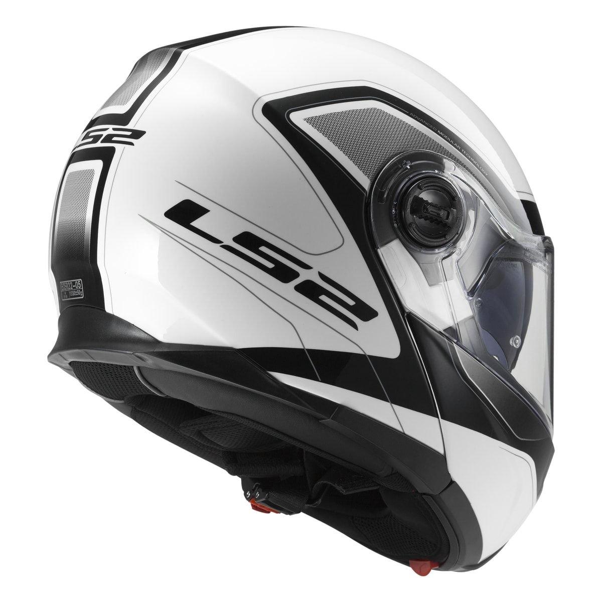 LS2 FF325 Strobe Civik White Black Motorcycle Helmet