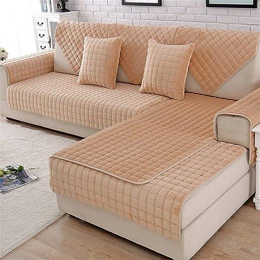 HFYAK - Funda de sofá Antideslizante de Color sólido, 1 ...