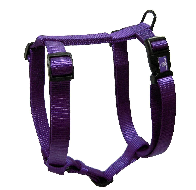 Amazon.com : Hamilton Adjustable Comfort Nylon Dog Harness, Purple