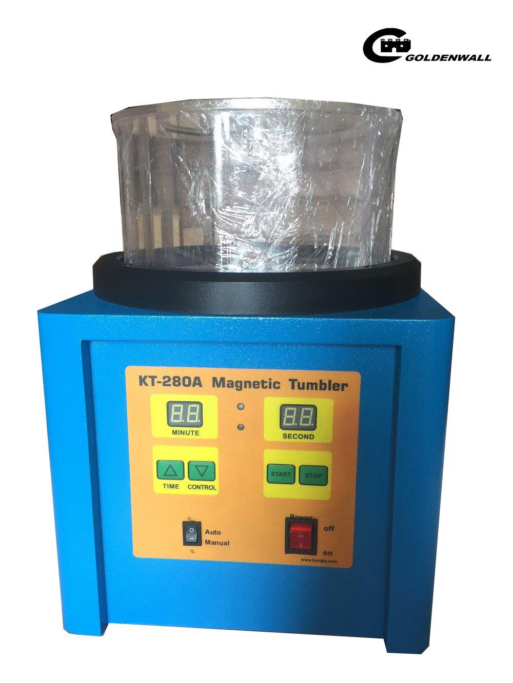 CGOLDENWALL 磁気バレル研磨機 タイマー付 正反転可能な高速強磁気ポリッシャー バリ除去 金属磨き シルバー磨き 銀磨き ジュエリー工具 【一年保証期間】 (110V) B078V6PFV1110V