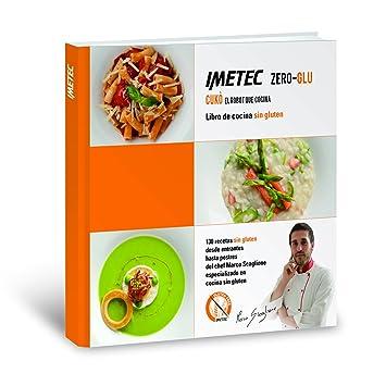 Imetec 7636 Zero Glu Cukò - Robot que cocina sin gluten, incluye libro de 130 recetas de productos sin gluten en castellano, 570 W, color blanco
