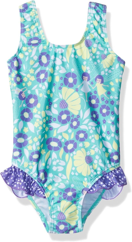 Flap Happy Girls UPF 50+ Delaney Hip Ruffle Swimsuit
