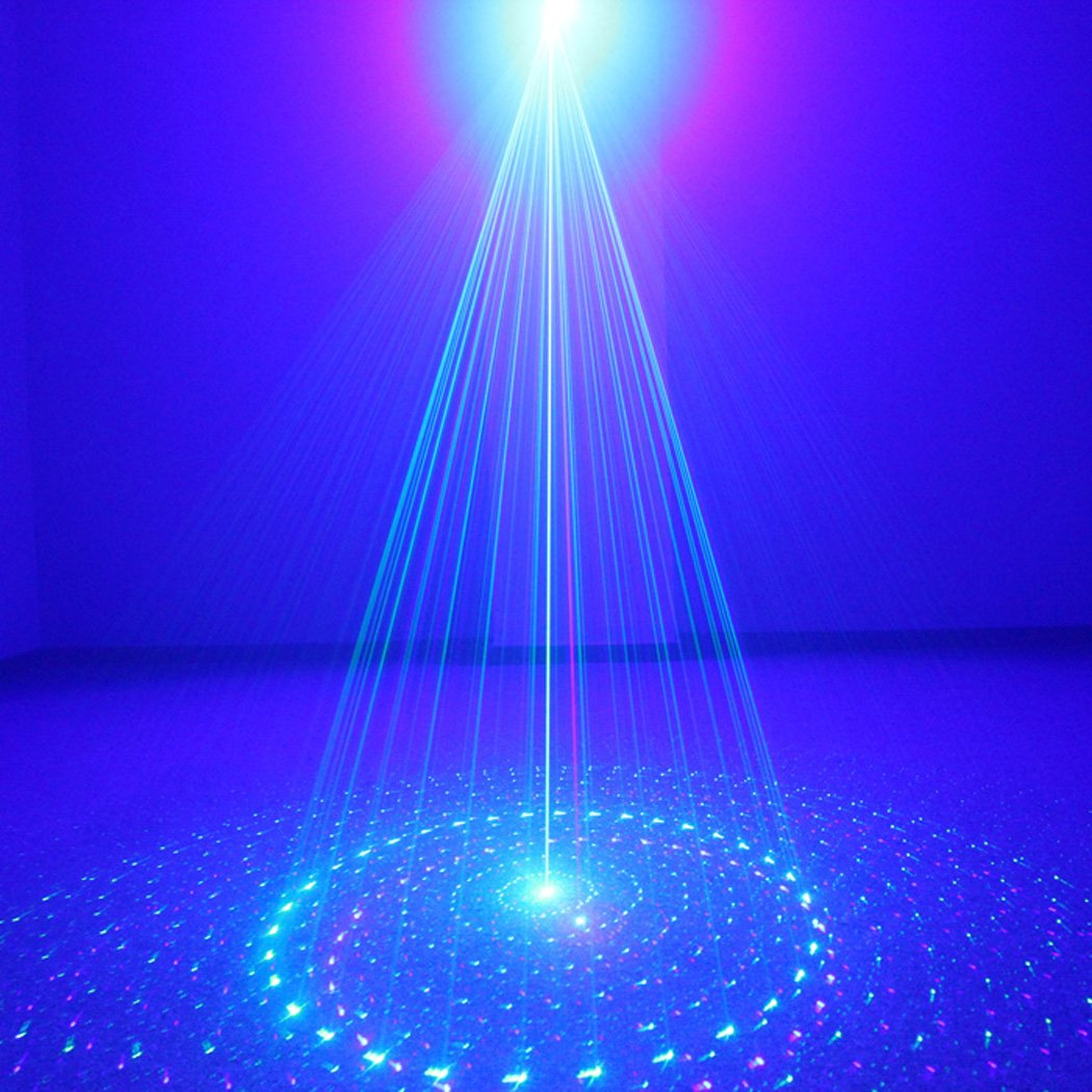 SUNY Laser Lighting for Party DJ Show 40 Patterns Green Blue Laser Lights Blue LED Light Music Laser Projector Sound Activated Remote Control Stage Lighting Dance Bar House Show Decoration Holiday Z40GB